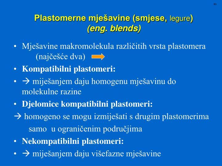 Mješavine makromolekula različitih vrsta plastomera (najčešće dva)