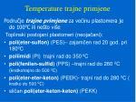 temperature trajne primjene