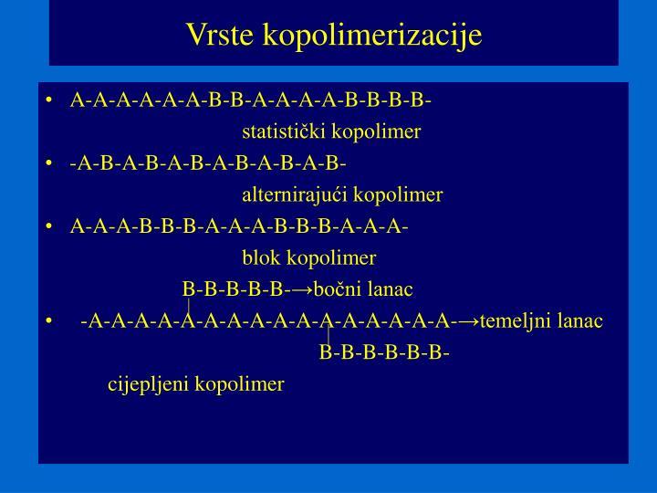 Vrste kopolimerizacije