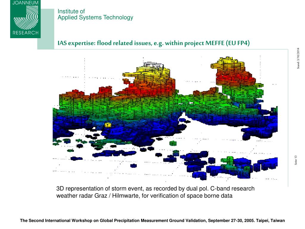 IAS expertise: flood related issues, e.g. within project MEFFE (EU FP4)