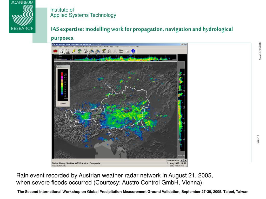 IAS expertise: modelling work for propagation, navigation and hydrological purposes.