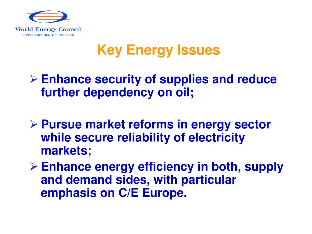 Key Energy Issues