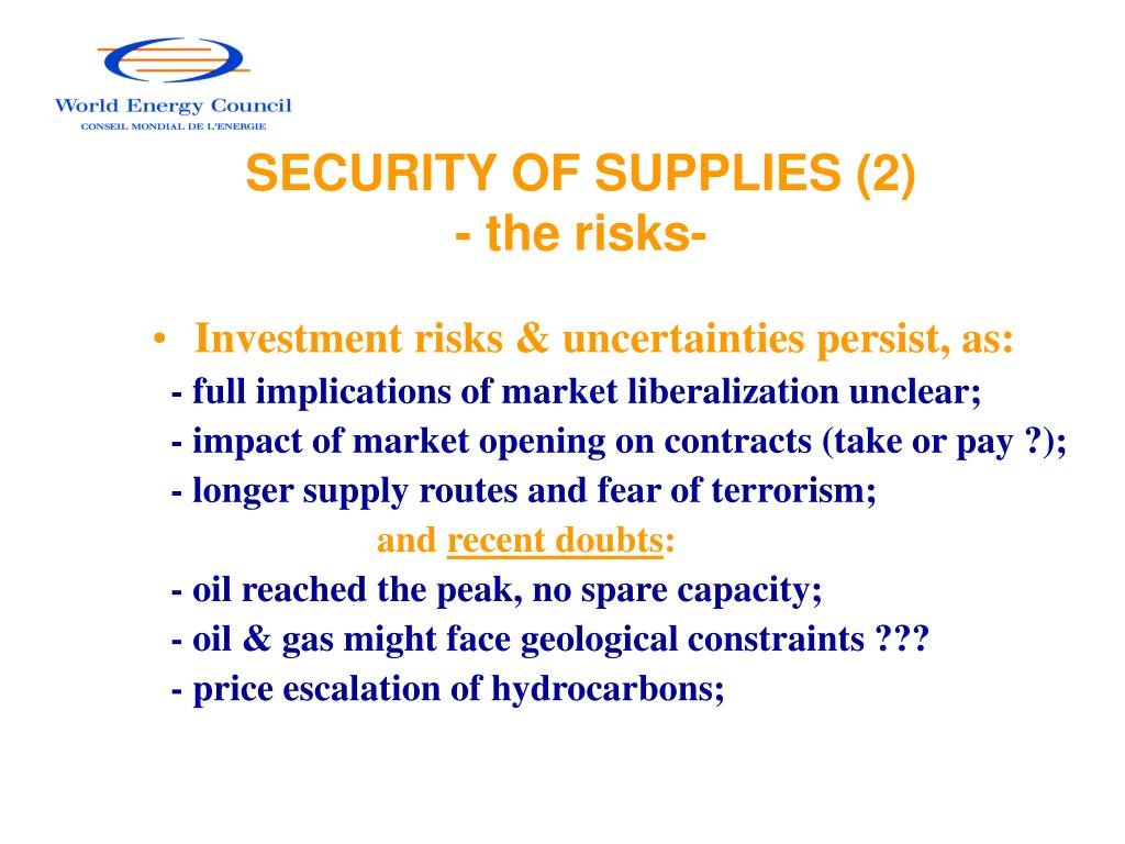 SECURITY OF SUPPLIES (2)