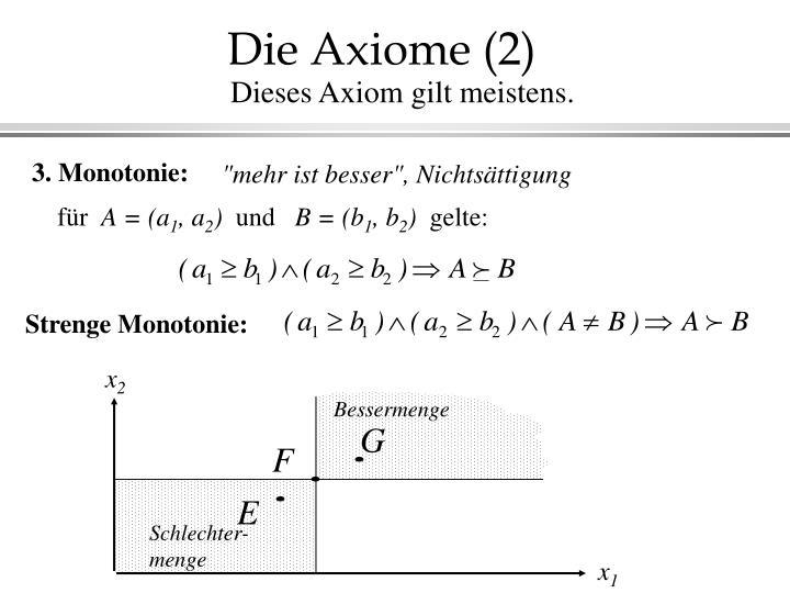 Die Axiome (2)