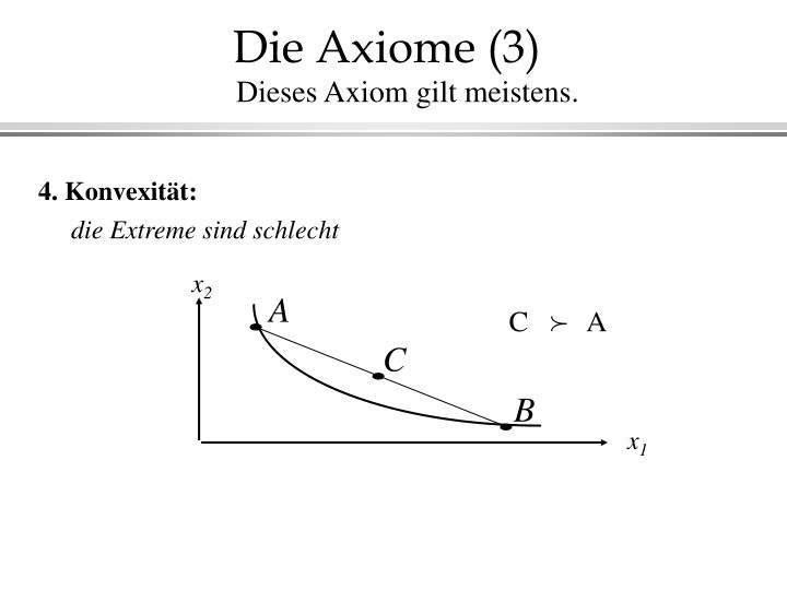 Die Axiome (3)