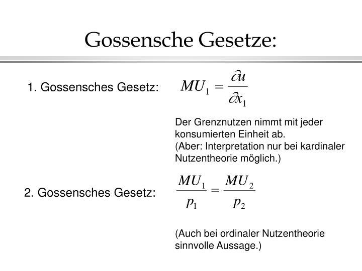 Gossensche Gesetze: