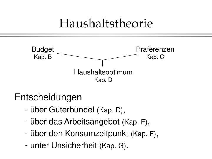 Haushaltstheorie