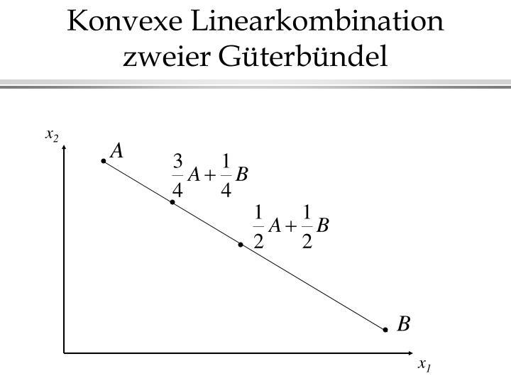 Konvexe Linearkombination zweier Güterbündel