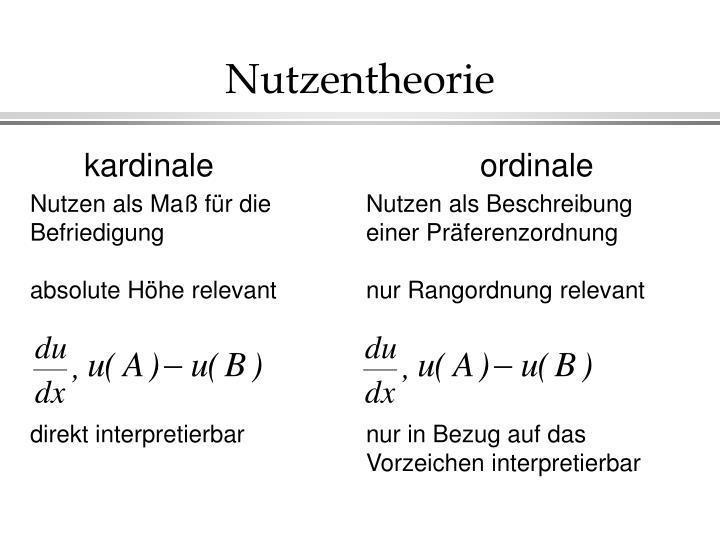 Nutzentheorie