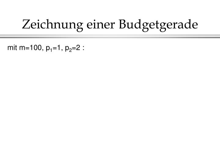 Zeichnung einer Budgetgerade