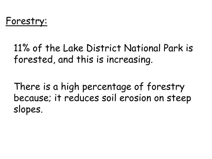 Forestry: