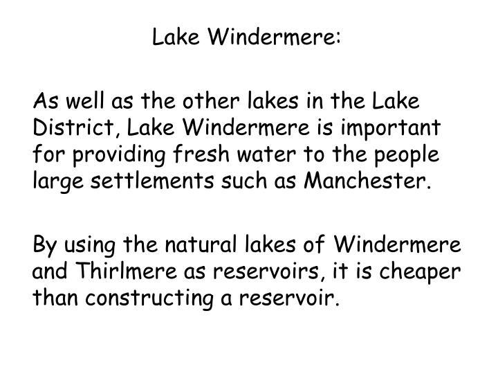 Lake Windermere: