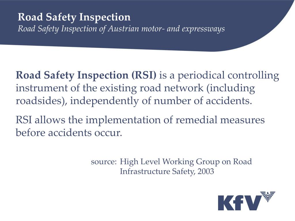 Road Safety Inspection