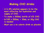 making cho drinks