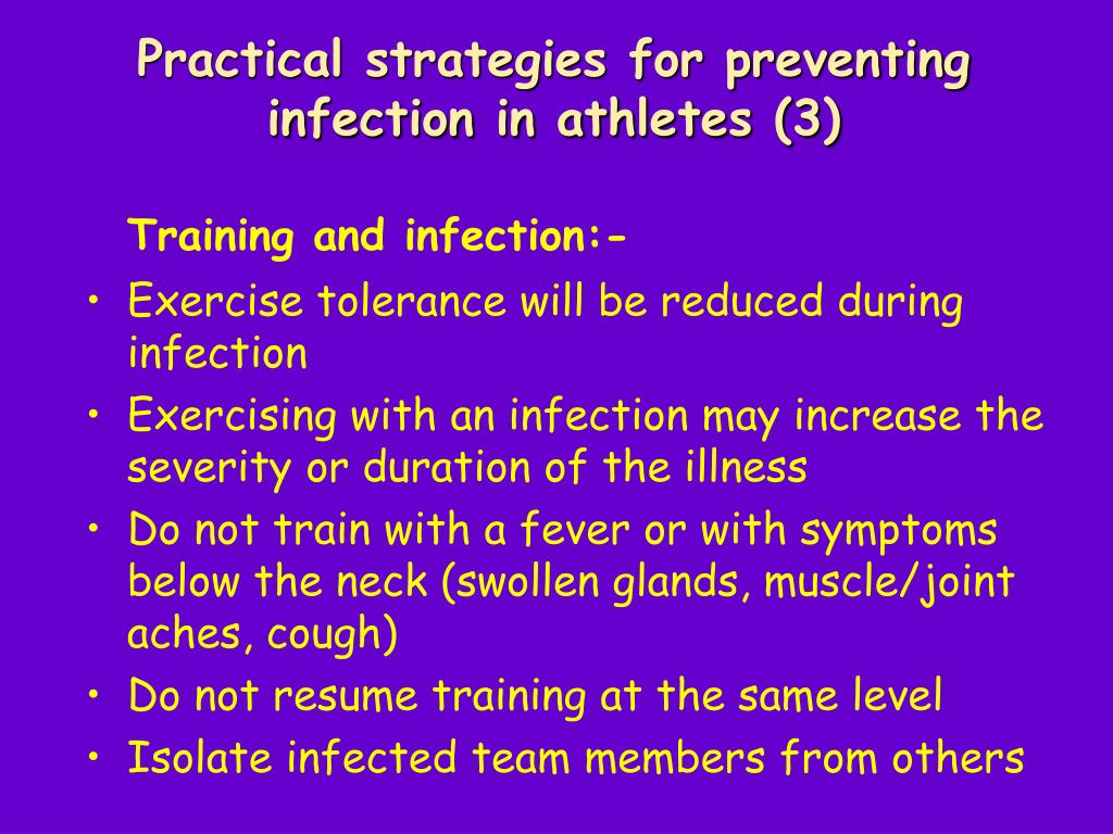 Practical strategies for preventing infection in athletes (3)