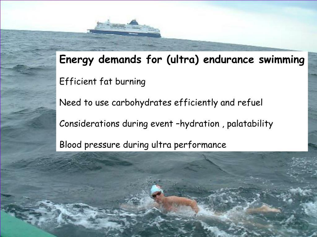 Energy demands for (ultra) endurance swimming
