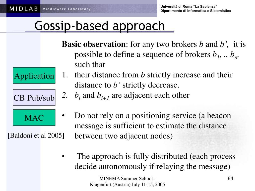 Gossip-based approach