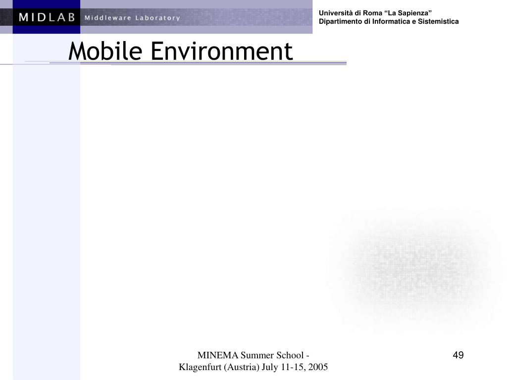 Mobile Environment