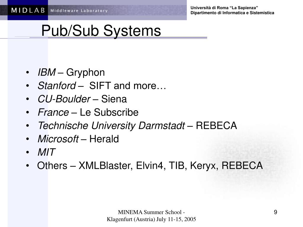 Pub/Sub Systems