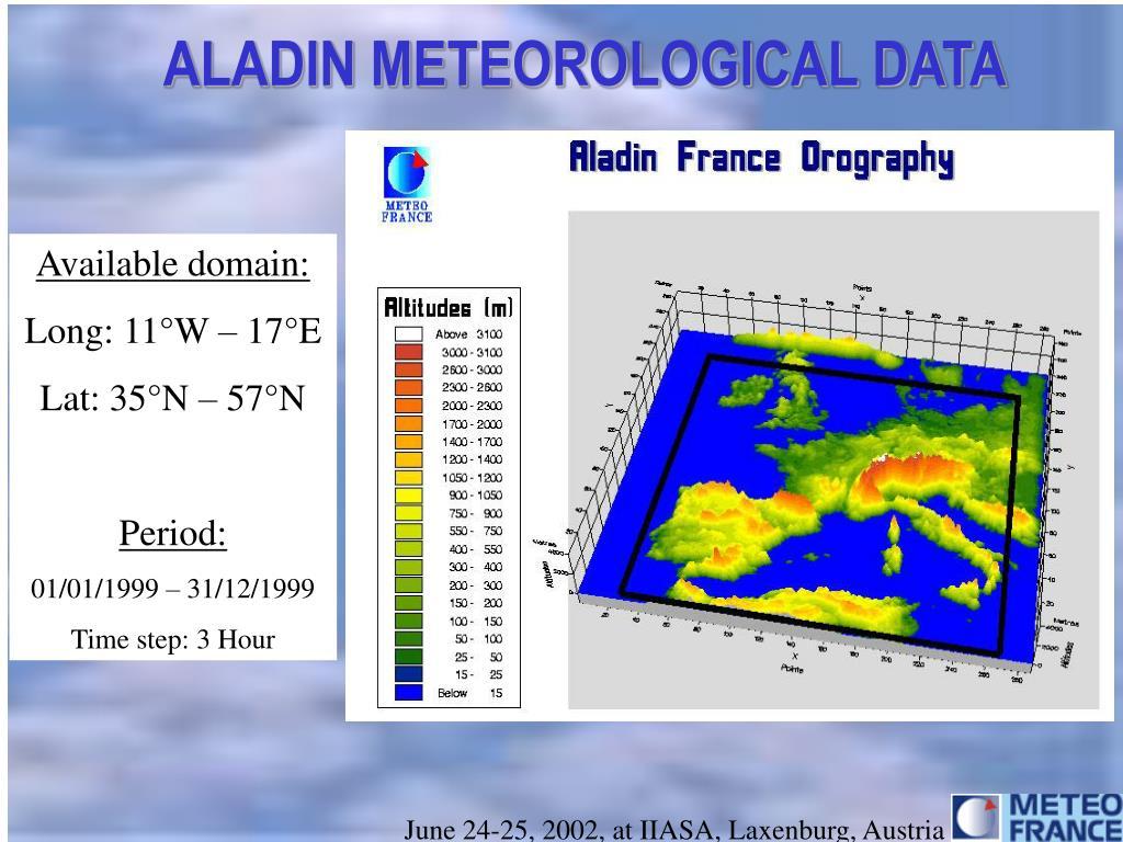 ALADIN METEOROLOGICAL DATA