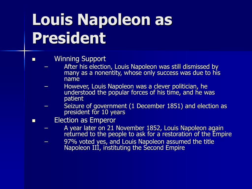 Louis Napoleon as President