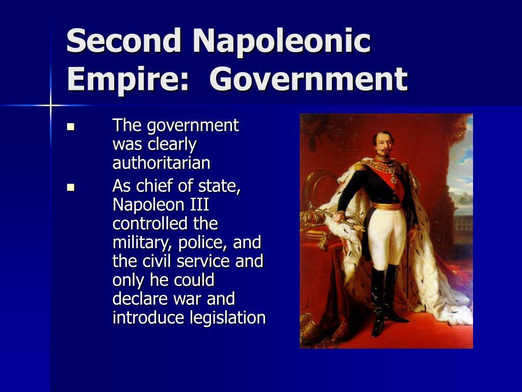 Second Napoleonic Empire:  Government