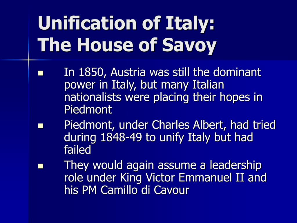 Unification of Italy: