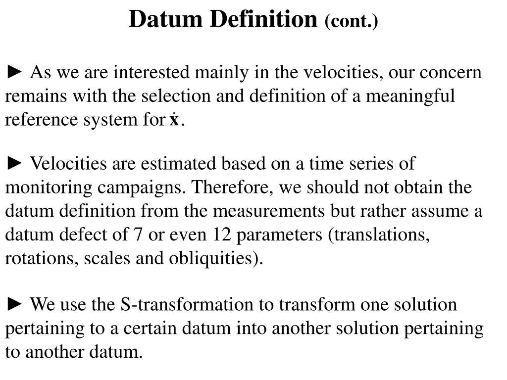 Datum Definition