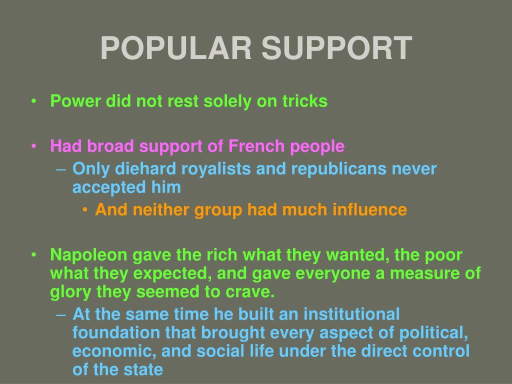 POPULAR SUPPORT