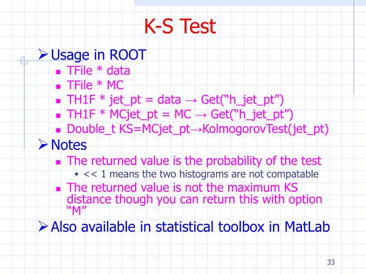 K-S Test