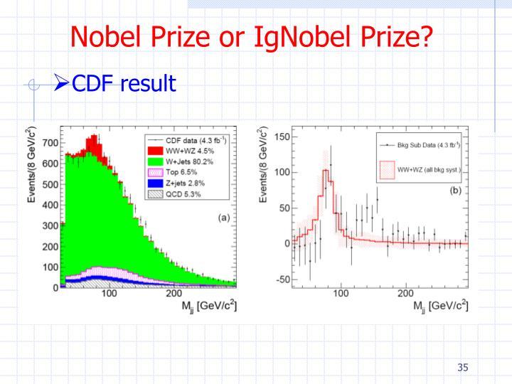 Nobel Prize or IgNobel Prize?