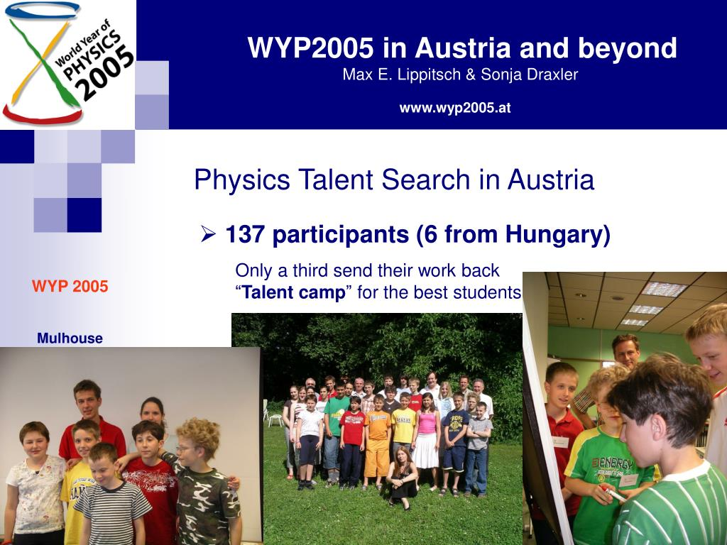 Physics Talent Search in Austria