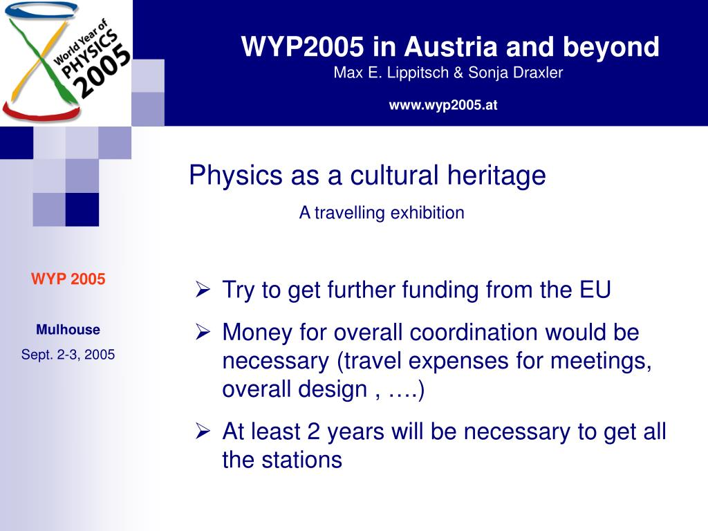 Physics as a cultural heritage