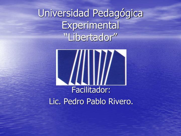 Universidad Pedagógica Experimental