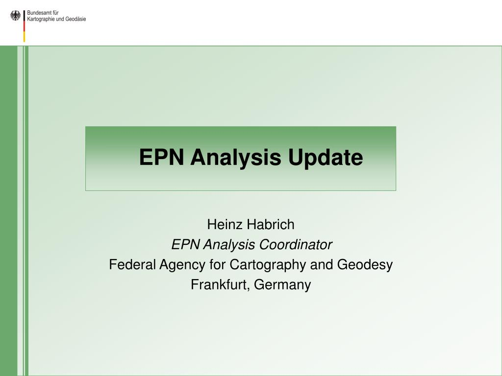 EPN Analysis Update