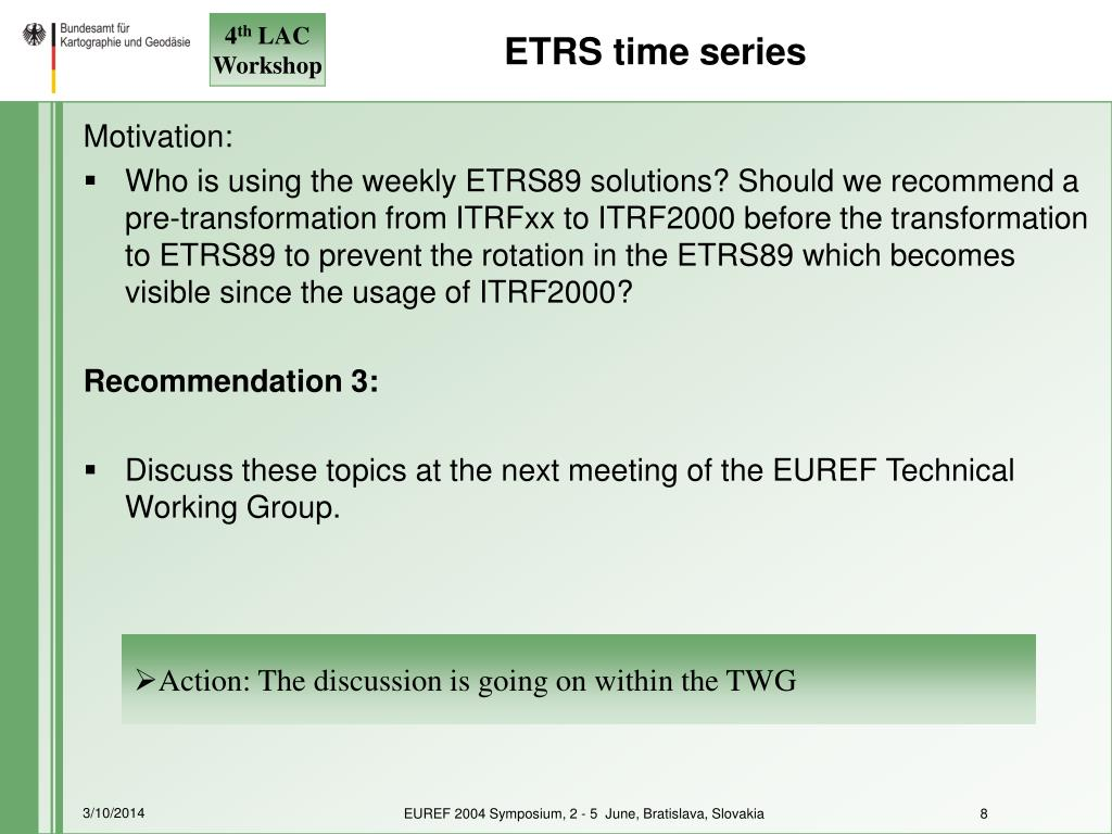 ETRS time series
