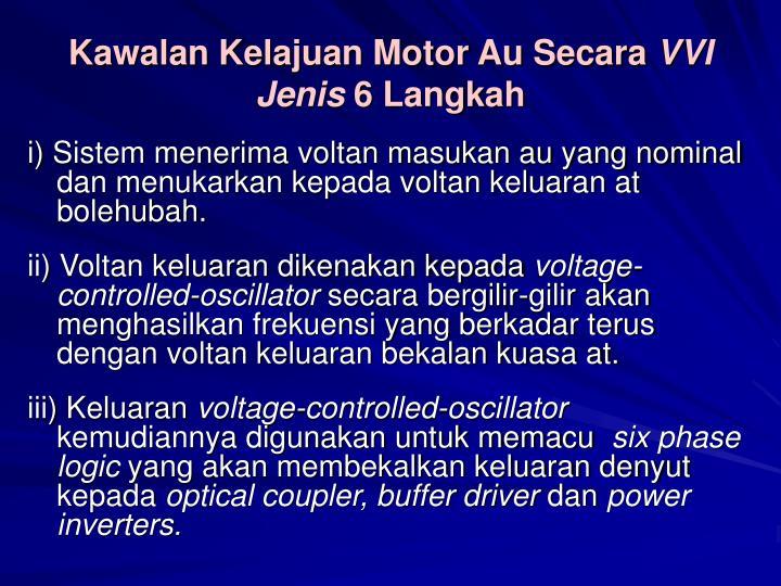 Kawalan Kelajuan Motor Au Secara