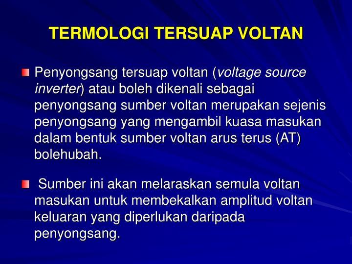 TERMOLOGI TERSUAP VOLTAN