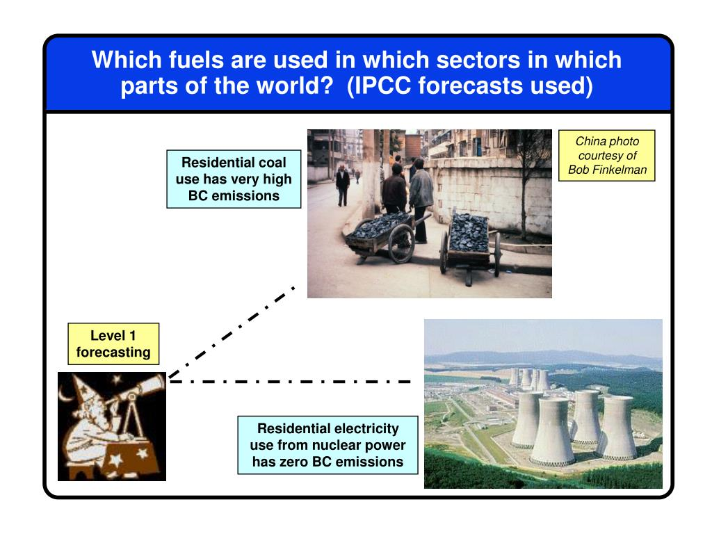 Which fuels are used in which sectors in which