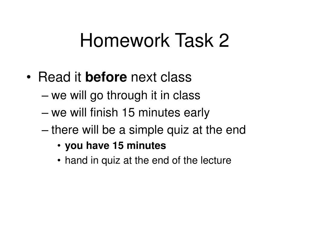 Homework Task 2