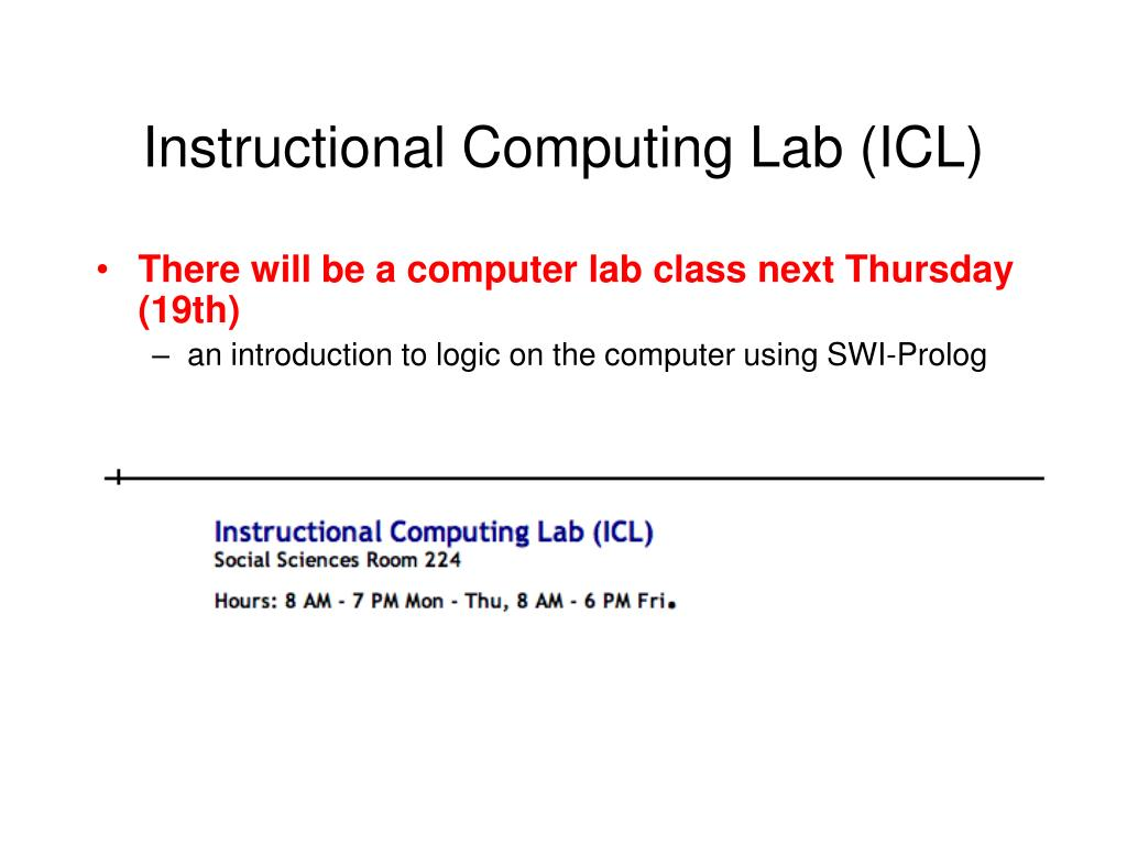 Instructional Computing Lab (ICL)