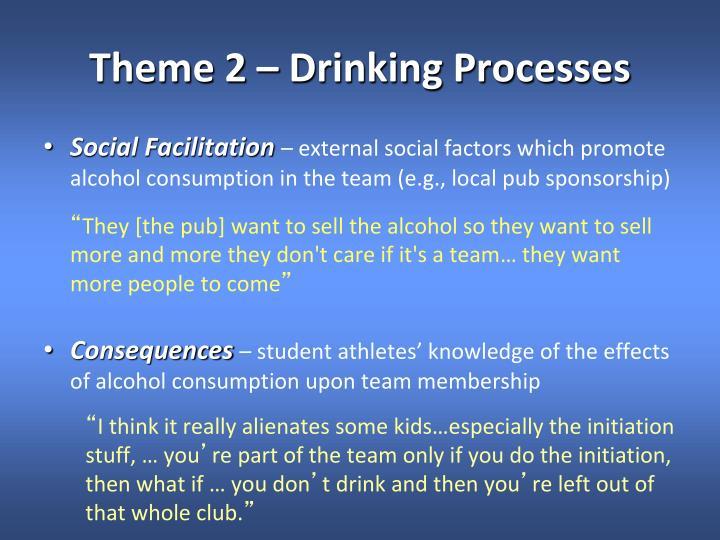 Theme 2 – Drinking Processes