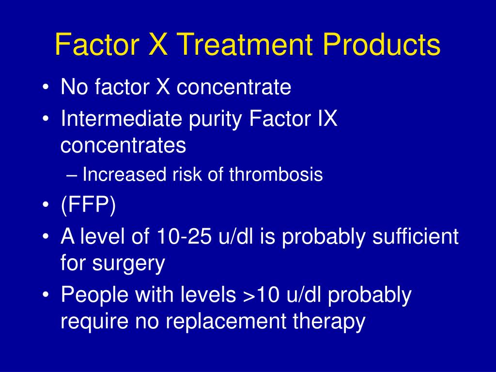 Factor X Treatment Products
