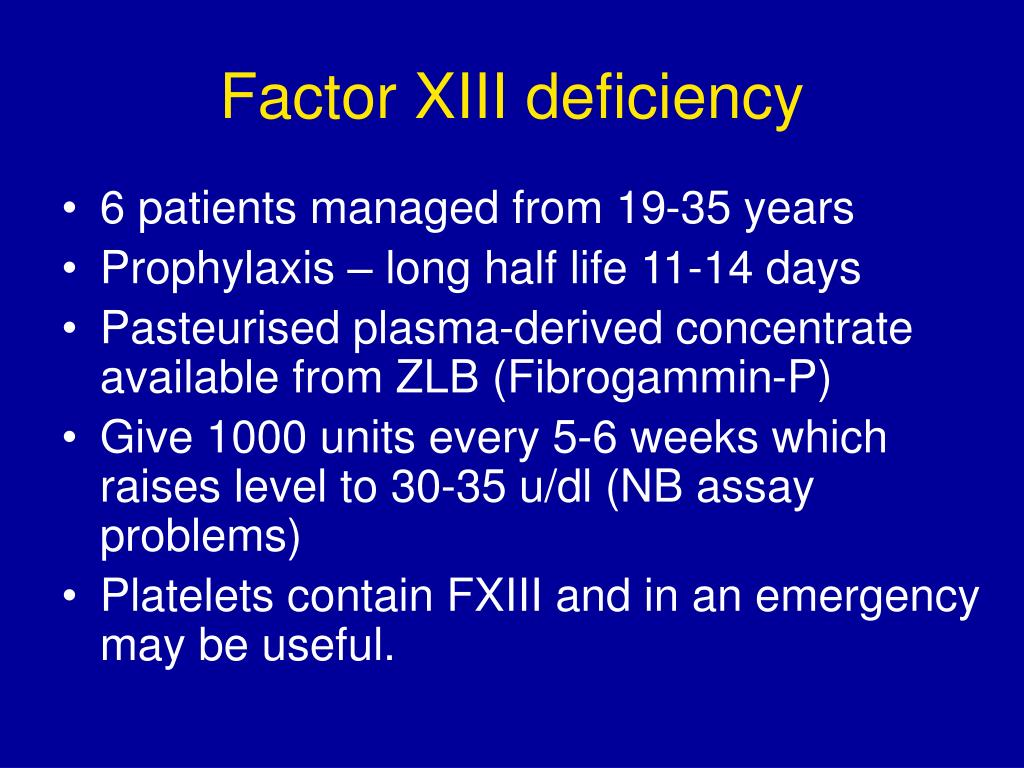 Factor XIII deficiency