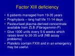 factor xiii deficiency