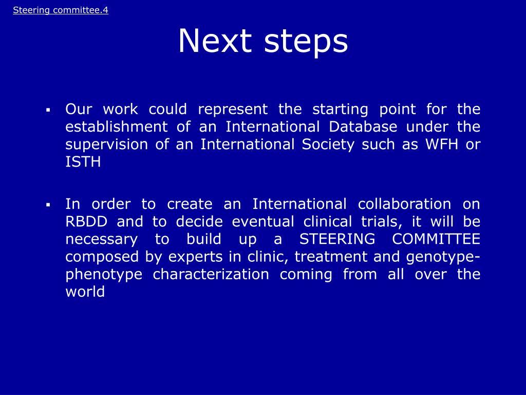 Steering committee.4