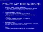 problems with rbds treatments