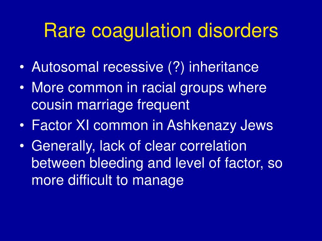 Rare coagulation disorders