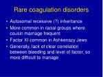 rare coagulation disorders