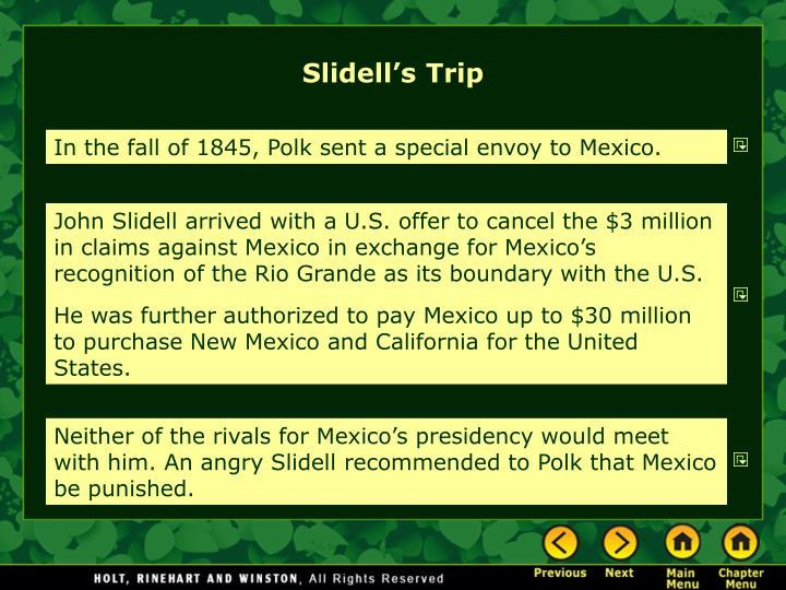 Slidell's Trip